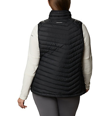 Women's Powder Lite™ Vest - Plus Size Powder Lite™ Vest | 011 | 1X, Black, back