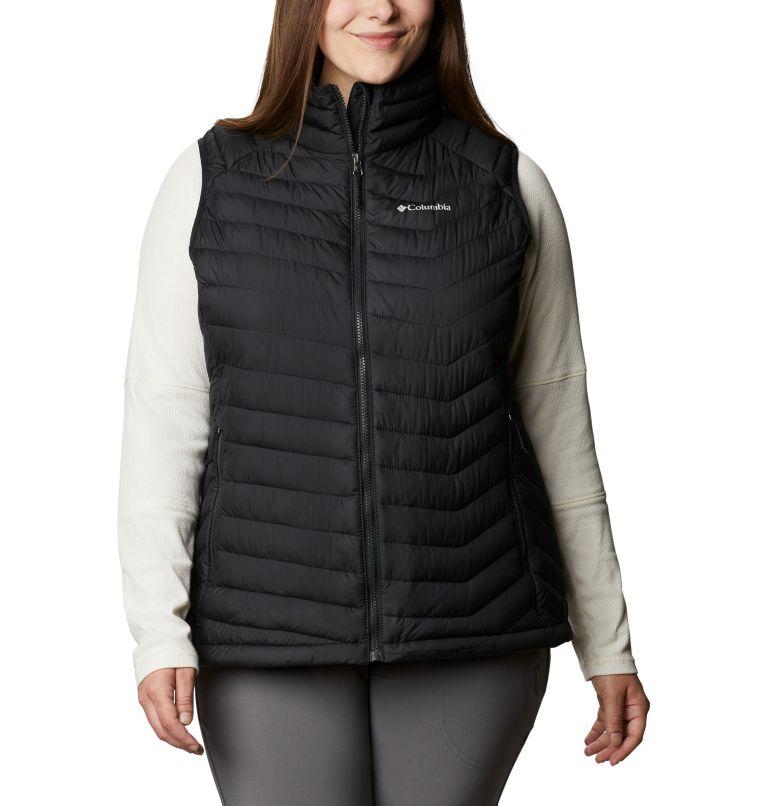 Powder Lite™ Vest   011   1X Women's Powder Lite™ Vest - Plus Size, Black, front