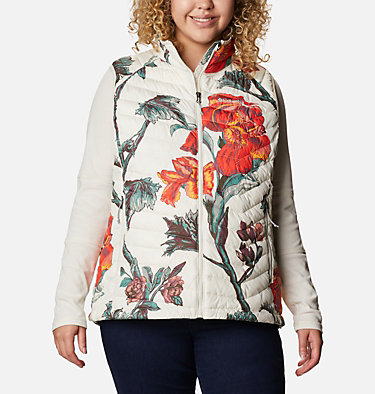 Women's Powder Lite™ Vest - Plus Size Powder Lite™ Vest | 011 | 1X, Chalk Botanica Print, front