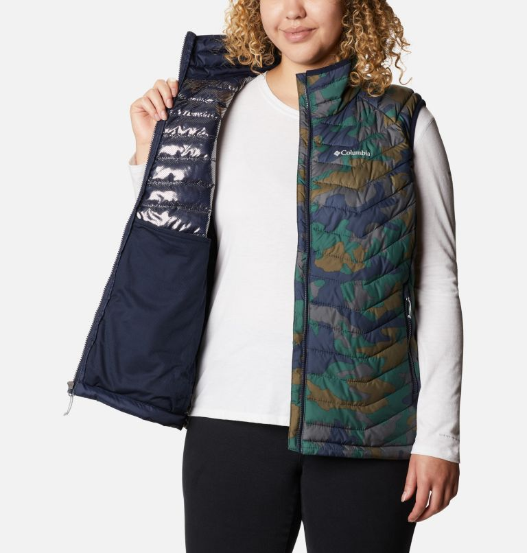 Powder Lite™ Vest | 472 | 1X Women's Powder Lite™ Vest - Plus Size, Dark Nocturnal Traditional Camo Print, a3
