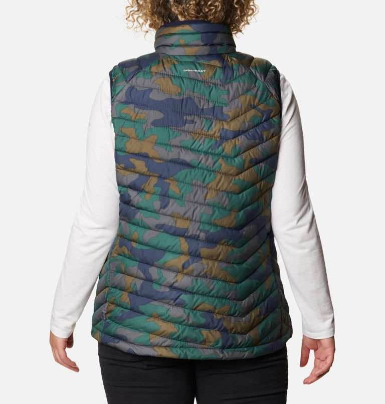 Powder Lite™ Vest | 472 | 1X Women's Powder Lite™ Vest - Plus Size, Dark Nocturnal Traditional Camo Print, back