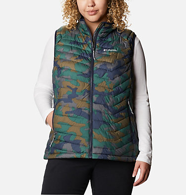 Women's Powder Lite™ Vest - Plus Size Powder Lite™ Vest | 011 | 1X, Dark Nocturnal Traditional Camo Print, front