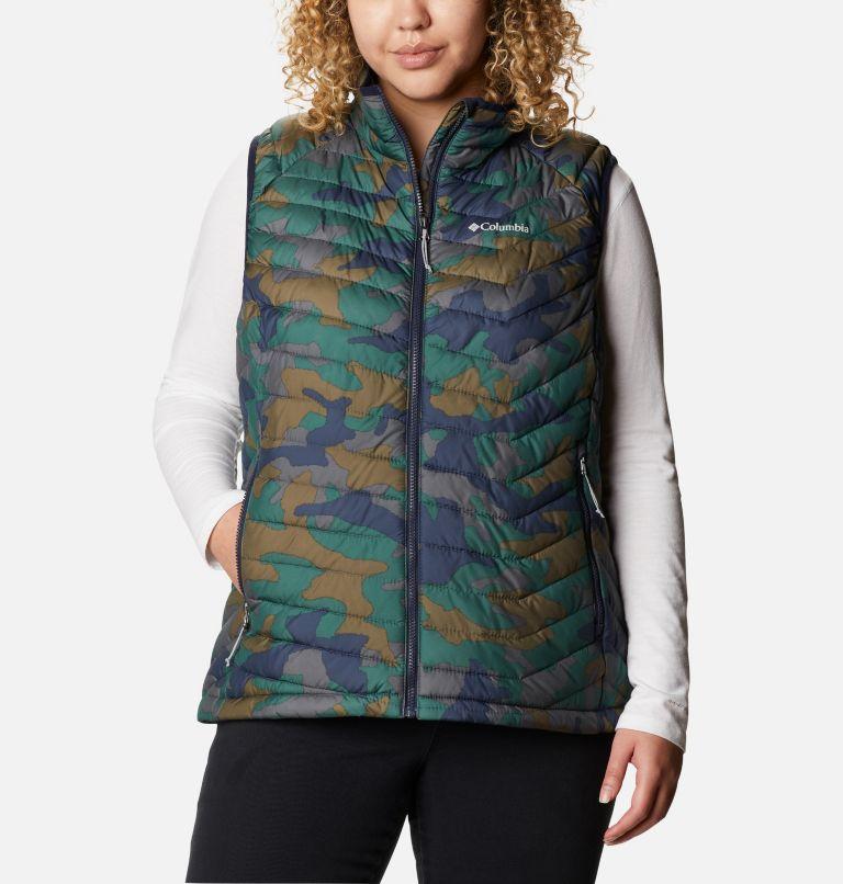 Powder Lite™ Vest | 472 | 1X Women's Powder Lite™ Vest - Plus Size, Dark Nocturnal Traditional Camo Print, front