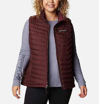 Women's Powder Lite™ Vest - Plus Size Powder Lite™ Vest | 192 | 1X, Malbec, front