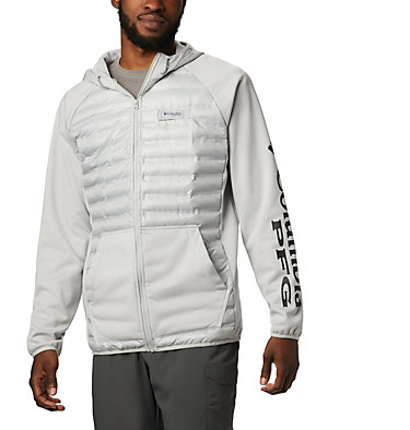 Men's PFG Terminal™ Hybrid Insulated Hoodie Terminal™ Hybrid Hoodie | 469 | XL, Cool Grey, front