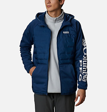 Men's PFG Terminal™ Hybrid Insulated Hoodie Terminal™ Hybrid Hoodie | 469 | XL, Carbon, front