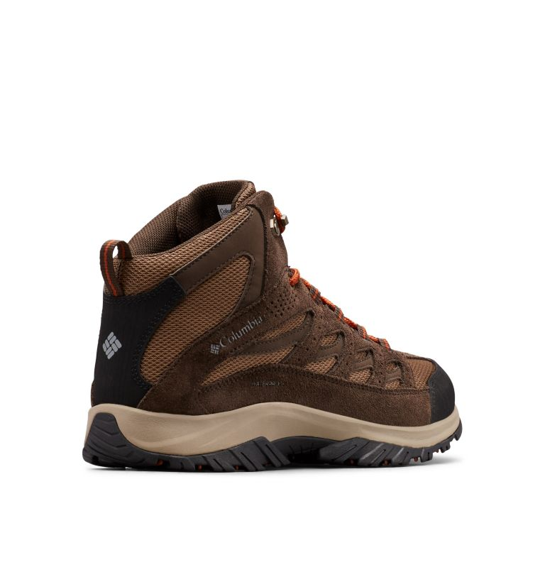 CRESTWOOD™ MID WATERPROOF | 203 | 10.5 Men's Crestwood™ Mid Waterproof Hiking Boot, Dark Brown, Dark Adobe, 3/4 back