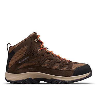 Men's Crestwood™ Mid Waterproof Hiking Boot CRESTWOOD™ MID WATERPROOF | 241 | 12, Dark Brown, Dark Adobe, front