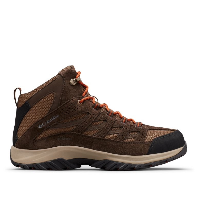 CRESTWOOD™ MID WATERPROOF | 203 | 10.5 Men's Crestwood™ Mid Waterproof Hiking Boot, Dark Brown, Dark Adobe, front