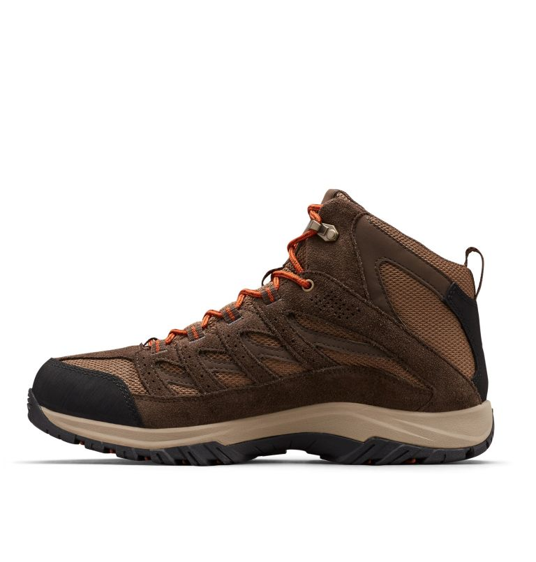 CRESTWOOD™ MID WATERPROOF | 203 | 10.5 Men's Crestwood™ Mid Waterproof Hiking Boot, Dark Brown, Dark Adobe, medial