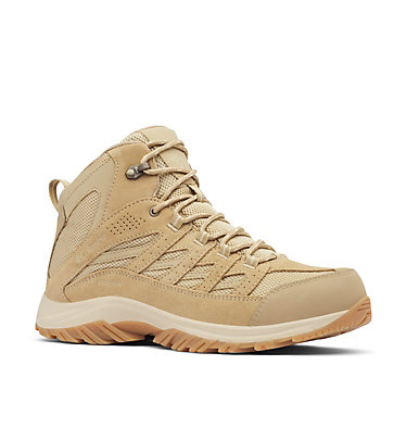 Men's Crestwood™ Mid Waterproof Hiking Boot CRESTWOOD™ MID WATERPROOF | 241 | 12, Oatmeal, Beach, 3/4 front