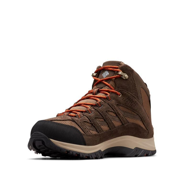 CRESTWOOD™ MID WATERPROOF WIDE   203   14 Men's Crestwood™ Mid Waterproof Hiking Boot - Wide, Dark Brown, Dark Adobe
