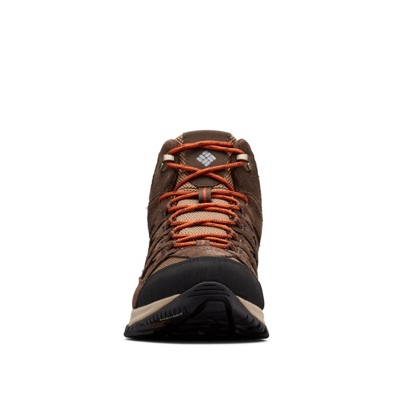 CRESTWOOD™ MID WATERPROOF WIDE | 203 | 7 Men's Crestwood™ Mid Waterproof Hiking Boot - Wide, Dark Brown, Dark Adobe, toe