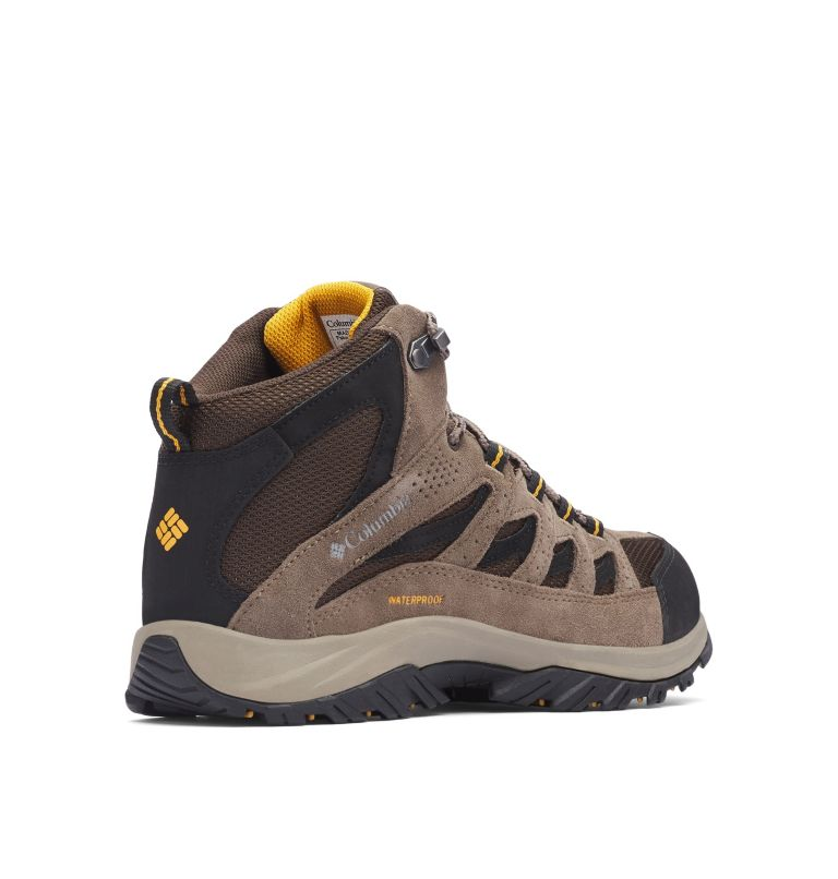 CRESTWOOD™ MID WATERPROOF WIDE | 231 | 7.5 Men's Crestwood™ Mid Waterproof Hiking Boot - Wide, Cordovan, Squash, 3/4 back
