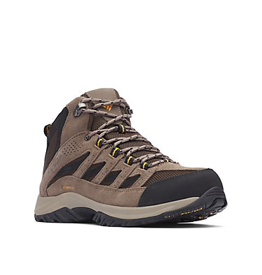Men's Crestwood™ Mid Waterproof Hiking Boot - Wide CRESTWOOD™ MID WATERPROOF WIDE | 231 | 10, Cordovan, Squash, 3/4 front