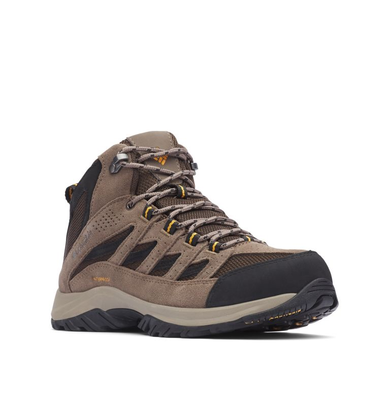 CRESTWOOD™ MID WATERPROOF WIDE | 231 | 7.5 Men's Crestwood™ Mid Waterproof Hiking Boot - Wide, Cordovan, Squash, 3/4 front