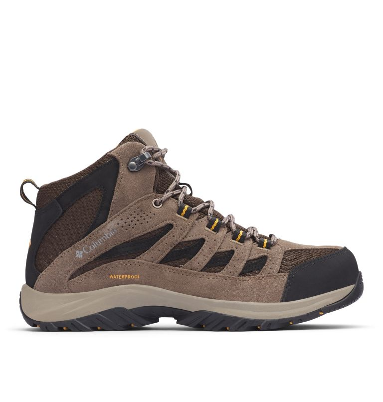 CRESTWOOD™ MID WATERPROOF WIDE | 231 | 7.5 Men's Crestwood™ Mid Waterproof Hiking Boot - Wide, Cordovan, Squash, front