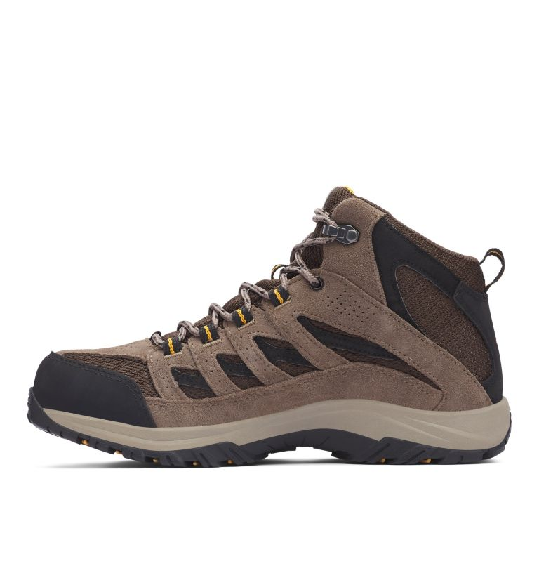 CRESTWOOD™ MID WATERPROOF WIDE | 231 | 14 Men's Crestwood™ Mid Waterproof Hiking Boot - Wide, Cordovan, Squash, medial