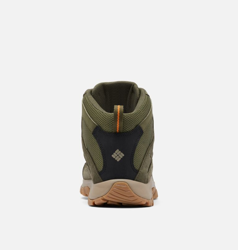 CRESTWOOD™ MID WATERPROOF WIDE | 371 | 10 Men's Crestwood™ Mid Waterproof Hiking Boot - Wide, Hiker Green, Light Orange, back
