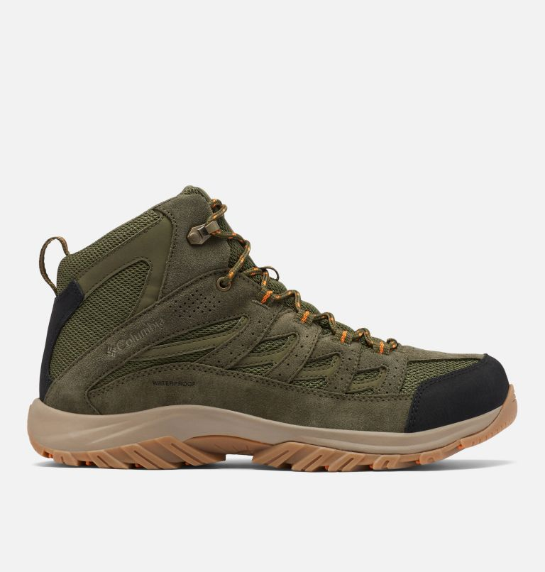 CRESTWOOD™ MID WATERPROOF WIDE | 371 | 7.5 Men's Crestwood™ Mid Waterproof Hiking Boot - Wide, Hiker Green, Light Orange, front