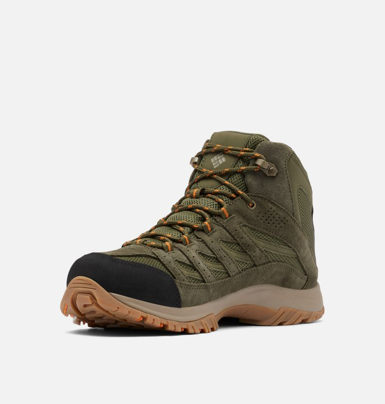 CRESTWOOD™ MID WATERPROOF WIDE | 371 | 7.5 Men's Crestwood™ Mid Waterproof Hiking Boot - Wide, Hiker Green, Light Orange