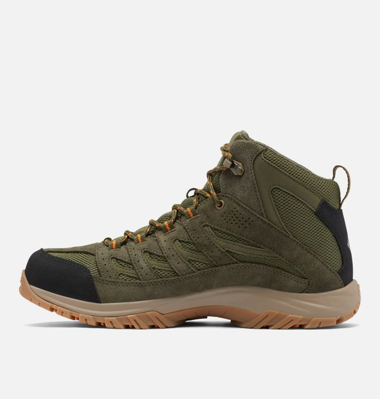 CRESTWOOD™ MID WATERPROOF WIDE | 371 | 7.5 Men's Crestwood™ Mid Waterproof Hiking Boot - Wide, Hiker Green, Light Orange, medial