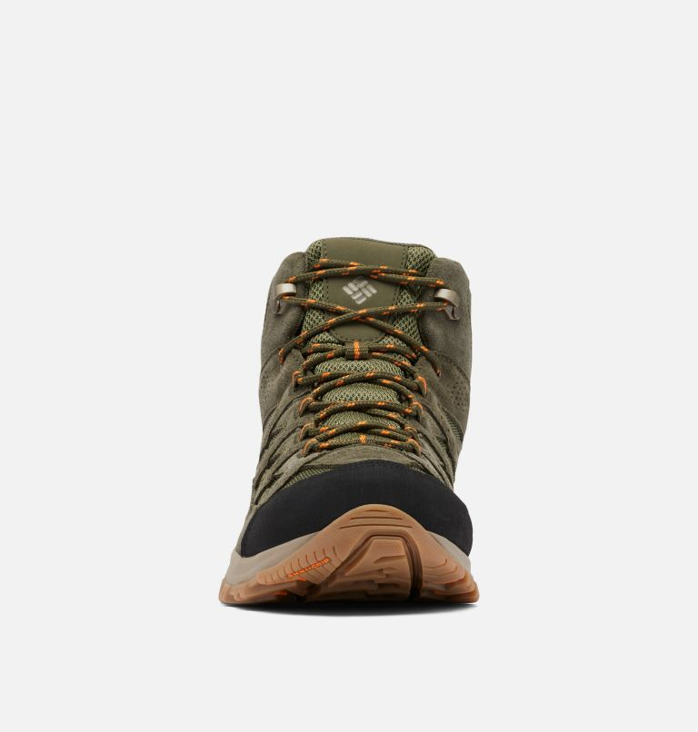 CRESTWOOD™ MID WATERPROOF WIDE | 371 | 7.5 Men's Crestwood™ Mid Waterproof Hiking Boot - Wide, Hiker Green, Light Orange, toe
