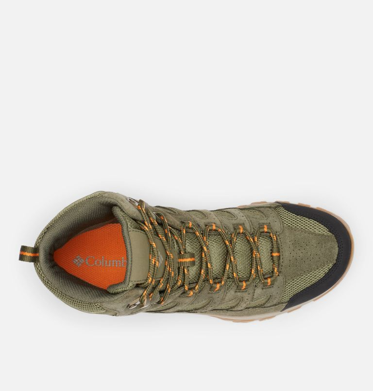 CRESTWOOD™ MID WATERPROOF WIDE | 371 | 7.5 Men's Crestwood™ Mid Waterproof Hiking Boot - Wide, Hiker Green, Light Orange, top