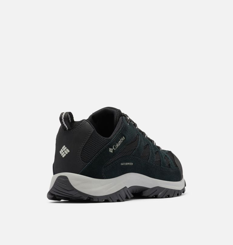 CRESTWOOD™ WATERPROOF | 013 | 12 Men's Crestwood™ Waterproof Hiking Shoe, Black, Columbia Grey, 3/4 back