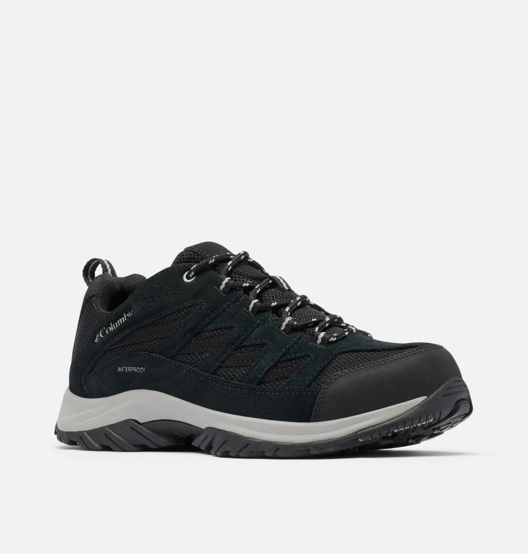CRESTWOOD™ WATERPROOF | 013 | 12 Men's Crestwood™ Waterproof Hiking Shoe, Black, Columbia Grey, 3/4 front