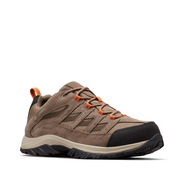 CRESTWOOD™ WATERPROOF | 227 | 12 Men's Crestwood™ Waterproof Hiking Shoe, Pebble, Desert Sun, 3/4 front
