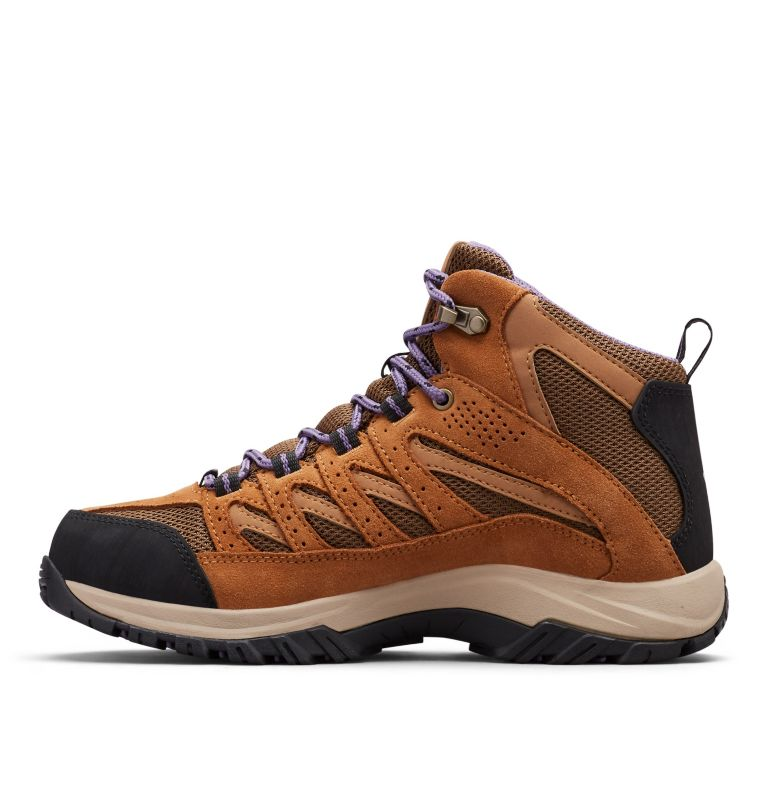 CRESTWOOD™ MID WATERPROOF   206   6 Women's Crestwood™ Mid Waterproof Hiking Boot, Dark Truffle, Plum Purple, medial