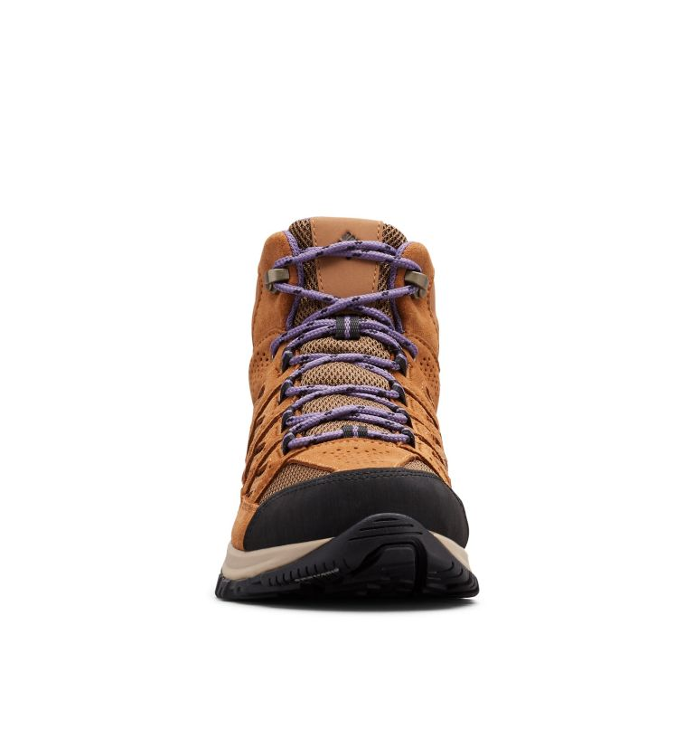 CRESTWOOD™ MID WATERPROOF   206   6 Women's Crestwood™ Mid Waterproof Hiking Boot, Dark Truffle, Plum Purple, toe