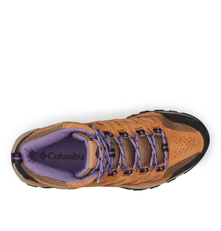 CRESTWOOD™ MID WATERPROOF   206   6 Women's Crestwood™ Mid Waterproof Hiking Boot, Dark Truffle, Plum Purple, top