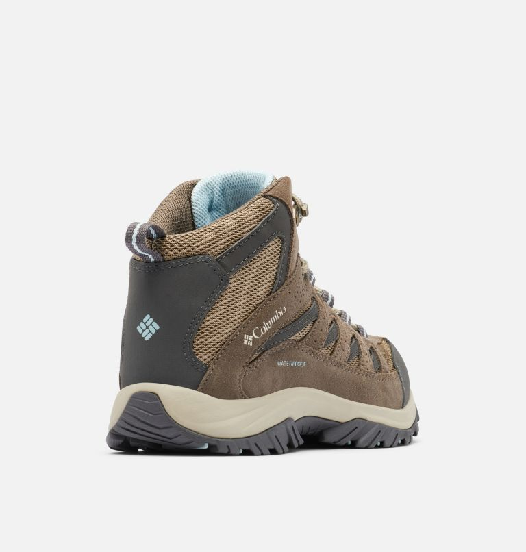CRESTWOOD™ MID WATERPROOF | 227 | 10.5 Women's Crestwood™ Mid Waterproof Hiking Boot, Pebble, Oxygen, 3/4 back
