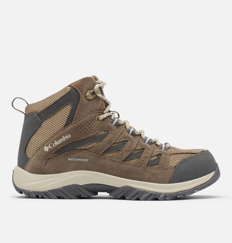 CRESTWOOD™ MID WATERPROOF | 227 | 10.5 Women's Crestwood™ Mid Waterproof Hiking Boot, Pebble, Oxygen, front