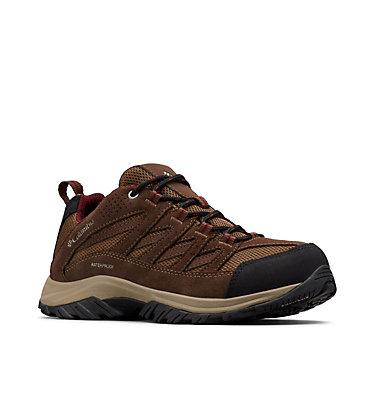 Women's Crestwood™ Waterproof Hiking Shoe CRESTWOOD™ WATERPROOF   227   10, Dark Truffle, Rich Wine, 3/4 front