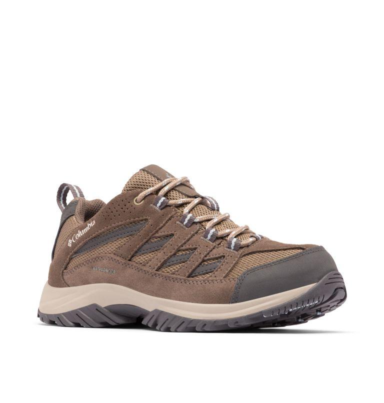 CRESTWOOD™ WATERPROOF | 227 | 8.5 Women's Crestwood™ Waterproof Hiking Shoe, Pebble, Oxygen, 3/4 front