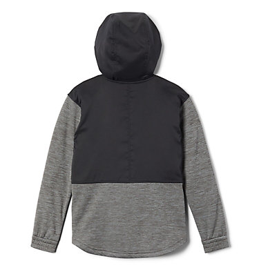 Girls' S'more Adventure™ Hybrid Hoodie S'more Adventure™ Hybrid Hoodie | 030 | L, Charcoal Heather, Black, back