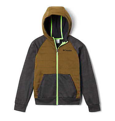 Boys' S'more Adventure™ Hybrid Hoodie S'more Adventure™Hybrid Hoodie | 023 | M, Black, New Olive, front