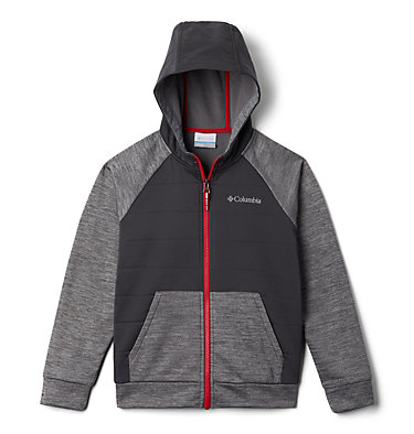 Boys' S'more Adventure™ Hybrid Hoodie S'more Adventure™Hybrid Hoodie | 023 | M, City Grey, Shark, front