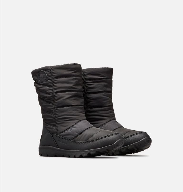 YOUTH WHITNEY™ MID | 010 | 4.5 Big Kids' Whitney™ Mid Boot, Black, 3/4 front