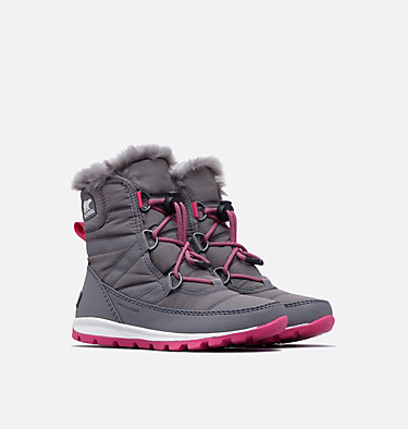 Youth Whitney™ Short Lace Boot YOUTH WHITNEY™ SHORT LACE | 053 | 5, Quarry, Ultra Pink, 3/4 front