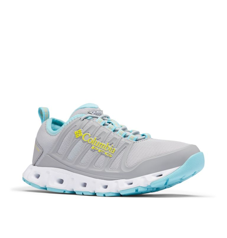 MEGAVENT™ II PFG | 099 | 5.5 Women's Megavent™ II PFG Water Shoe, Slate Grey, Acid Yellow, 3/4 front