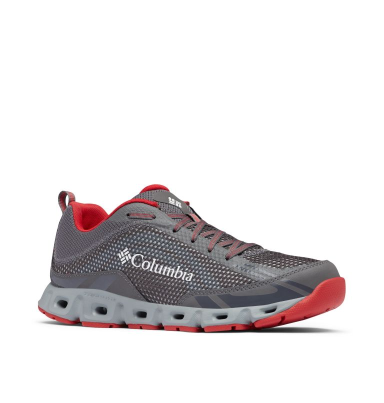DRAINMAKER™ IV | 023 | 7.5 Men's Drainmaker™ IV Water Shoe, City Grey, Mountain Red, 3/4 front