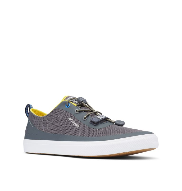 DORADO™ CVO PFG WIDE | 033 | 8 Men's Dorado™ CVO PFG Shoe - Wide, Ti Grey Steel, Electron Yellow, 3/4 front