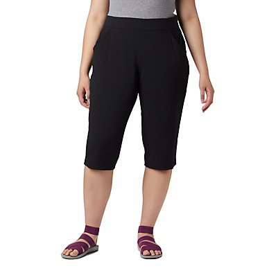 Women's Anytime Casual™ Capri - Plus Size Anytime Casual™ Capri | 010 | 1X, Black, front