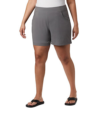 Short Anytime Casual™ pour femme - Grandes tailles Anytime Casual™ Short | 023 | 3X, City Grey, front