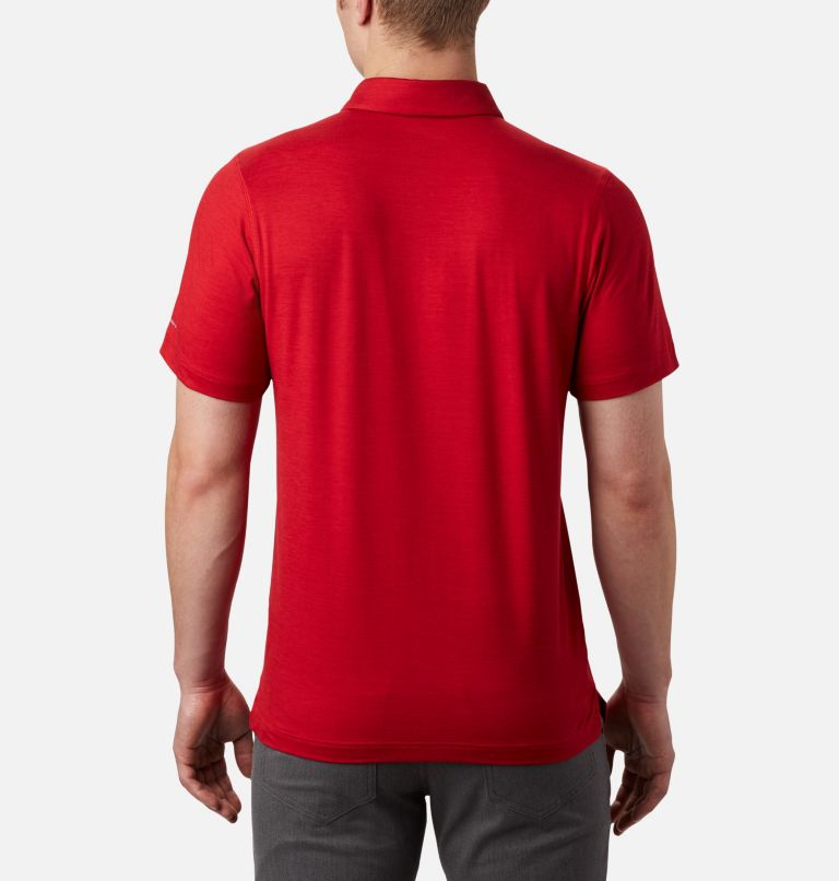 Tech Trail™ Polo | 613 | XL Men's Tech Trail™ Polo Shirt, Mountain Red, back