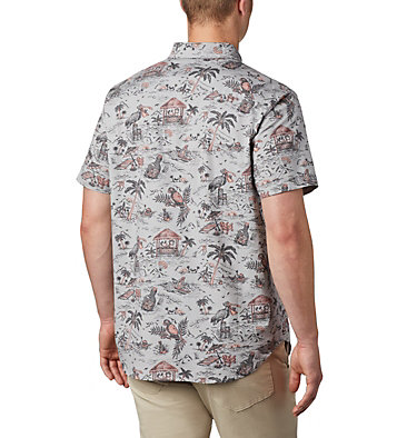 Men's Rapid Rivers™ Printed Short Sleeve Shirt Rapid Rivers™ Printed Short Sleeve Shirt | 161 | L, Columbia Grey Lost in Paradise Print, back